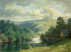 Hanmer Griffith - Chapel Farm and the River..