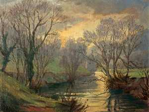 Hanmer Griffith - River Scene (possibly the..