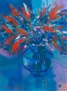 John F O'connell - Still Life Vase with Flow..