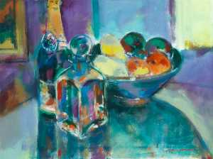 John F O'connell - Still Life with Champagne