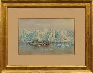 Theodore J. Richardson - S. S. Queen at Muir Glacier, (painting)