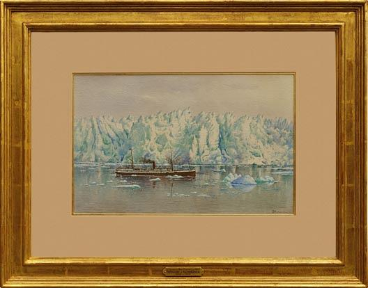 Order Paintings Reproductions | S. S. Queen at Muir Glacier, (painting), 1890 by Theodore J. Richardson | ArtsDot.com