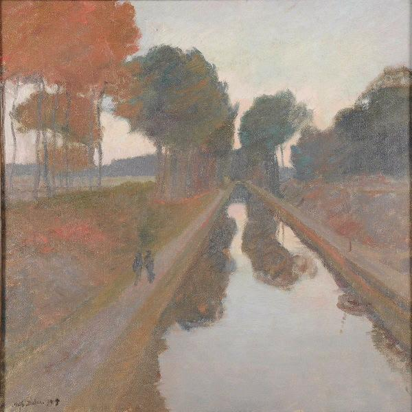 Le canal by Charles Dulac | Painting Copy | ArtsDot.com