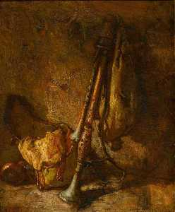 Thomas Couture - Still Life with a Cornemuse
