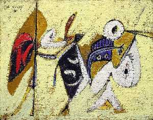 Arshile Gorky - Battle at Sunset with the..