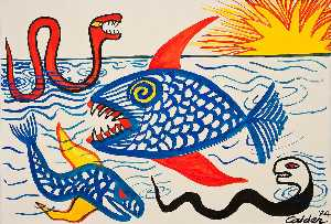 Alexander Milne Calder - Fish at Sunrise