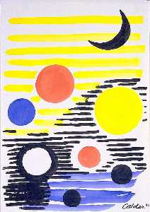 Alexander Milne Calder - 7 Circles Abstract