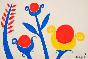 Alexander Milne Calder - Yellow, Red, Blue Flowers
