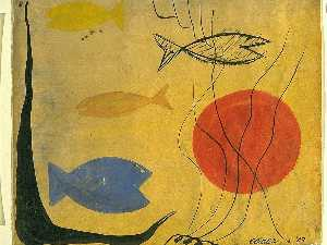 Alexander Milne Calder - Four Fish in Water