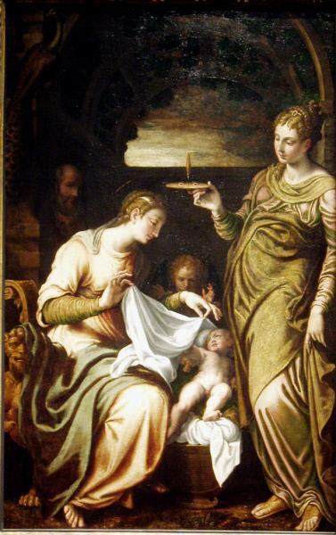 The Holy Family with Saint Lucy, 1560 by Bernardino Campi (1522-1591) | Oil Painting | ArtsDot.com