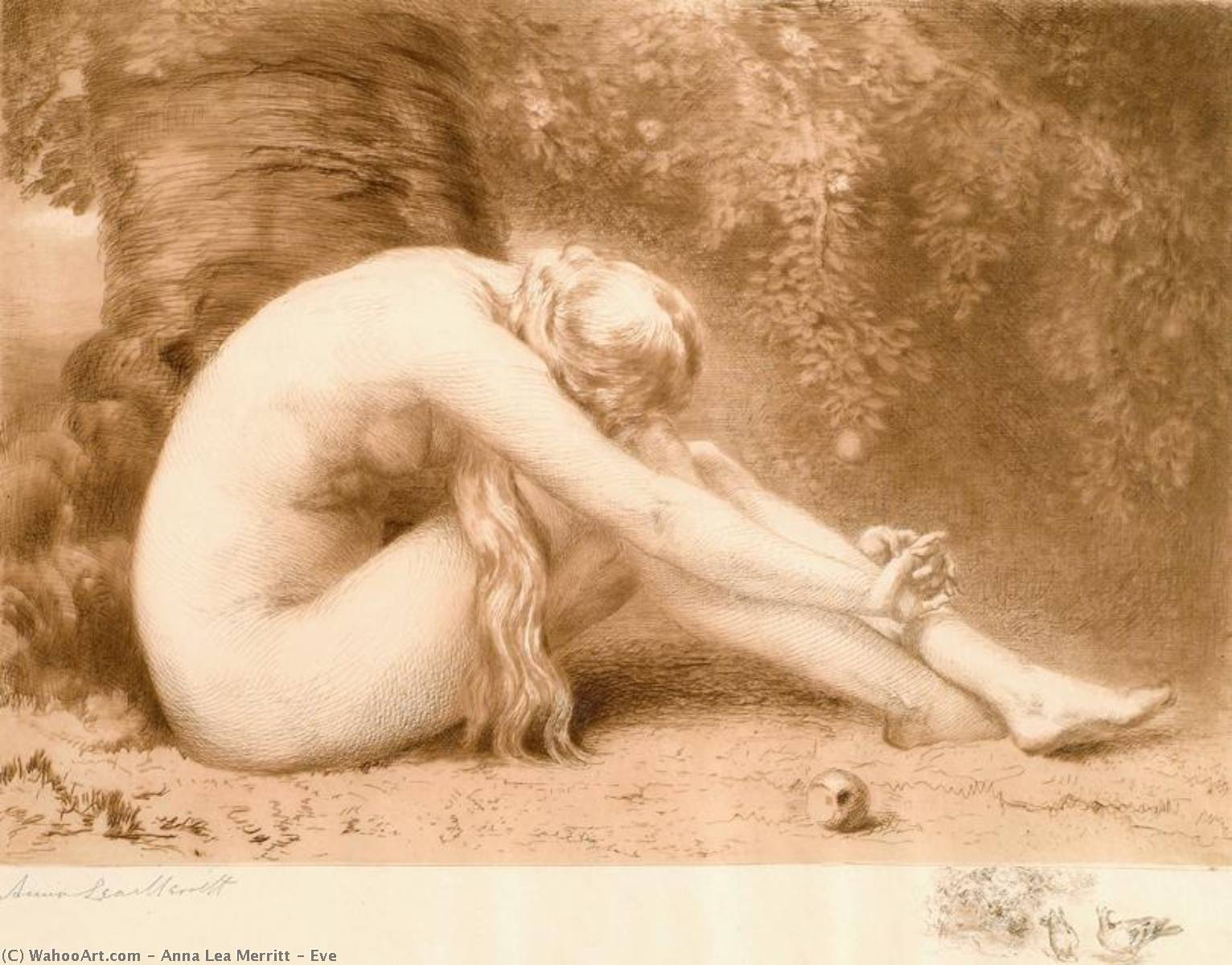 Order Art Reproduction : Eve, 1887 by Anna Lea Merritt (1844-1930, United States) | ArtsDot.com