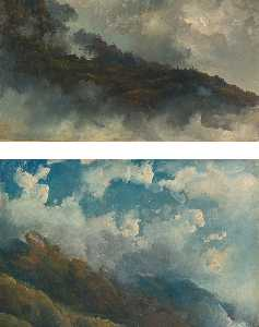 Fritz Sigfried Georg Melb.. - A Pair of Cloud Studies U..