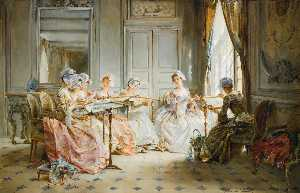 Madeleine Jeanne Lemaire - The Embroidery Class