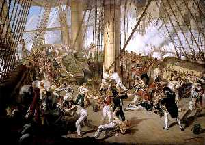 Denis Dighton - The Fall of Nelson, Battle of Trafalgar, 21 October 1805