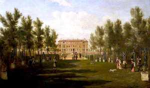 Hendrick Danckerts - Ham House from the South