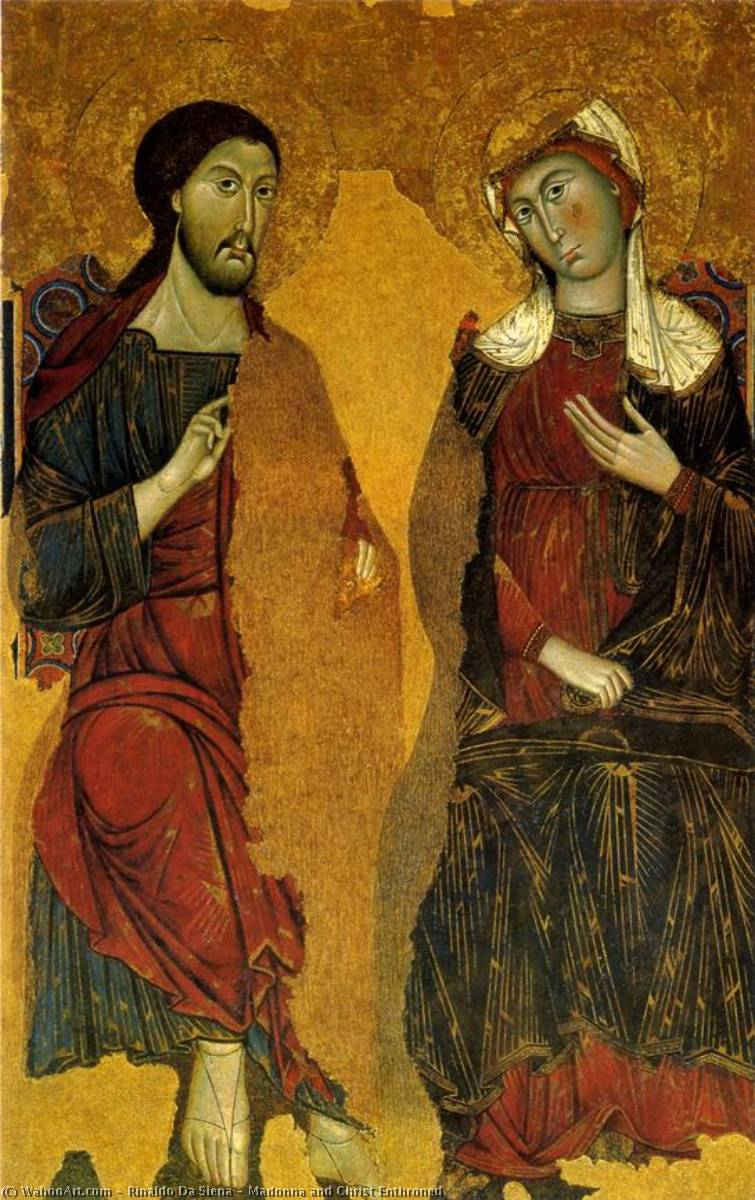 Madonna and Christ Enthroned, 1295 by Rinaldo Da Siena | Reproductions Rinaldo Da Siena | ArtsDot.com