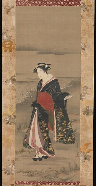 Order Museum Quality Copies | Beauty by the Shore by Kubo Shunman (1757-1820) | ArtsDot.com