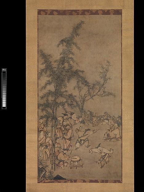 Order Reproductions | 竹林七聖図 Seven Sages of the Bamboo Grove, 1550 by Sesson Shūkei (1504-1589, Japan) | ArtsDot.com