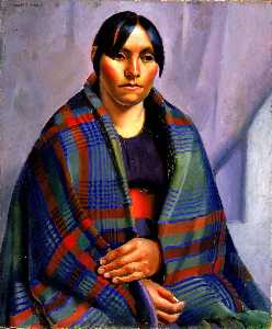 Kenneth M Adams - Taos Indian Woman