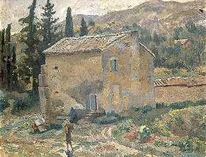 Roger Eliot Fry - French Landscape with a House