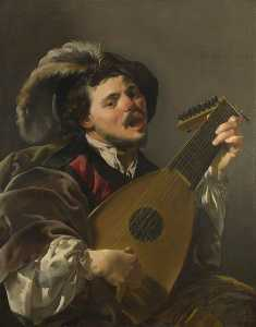 Hendrick Terbrugghen - A Man playing a Lute