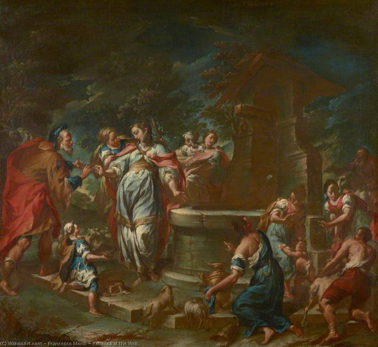 Rebecca at the Well, 1750 by Francesco Monti (1683-1768) | Art Reproduction | ArtsDot.com