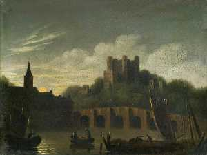 William Pether - View of a Castle
