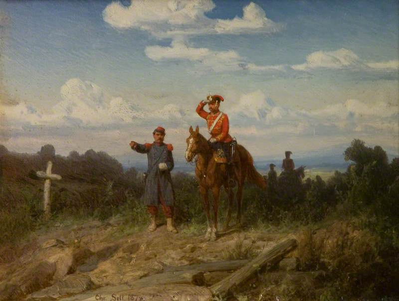 Scenes in the Franco Prussian War, 1874 by Christian Sell | Museum Quality Copies Christian Sell | ArtsDot.com