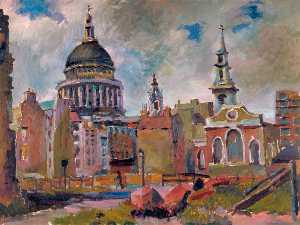 Charles Alfred Mozley - St Paul's Cathedral