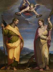Orazio Samacchini - Saint James Major and Sai..