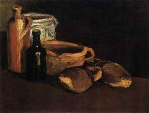 Joos Vincent de Vos - Still Life with Clogs and..