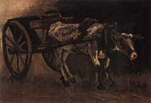 Joos Vincent de Vos - Cart with Red and White O..