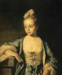 Joshua Reynolds - A Little Girl (possibly Lady Frances Scott, 1750–1817, Later Lady Douglas)