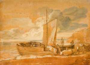 Thomas Gainsborough - A Cattle Ferry
