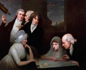 George Romney - Adam Walker and his family
