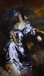 Anthony Van Dyck - Rachel de Ruvigny, Countess of Southampton, as Fortune