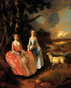 Thomas Gainsborough - Mrs Mary Cobbold with Her Daughter Anne