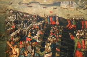 Matteo Perez D- Aleccio - The Siege of Malta Capture of St Elmo, 23 June 1565