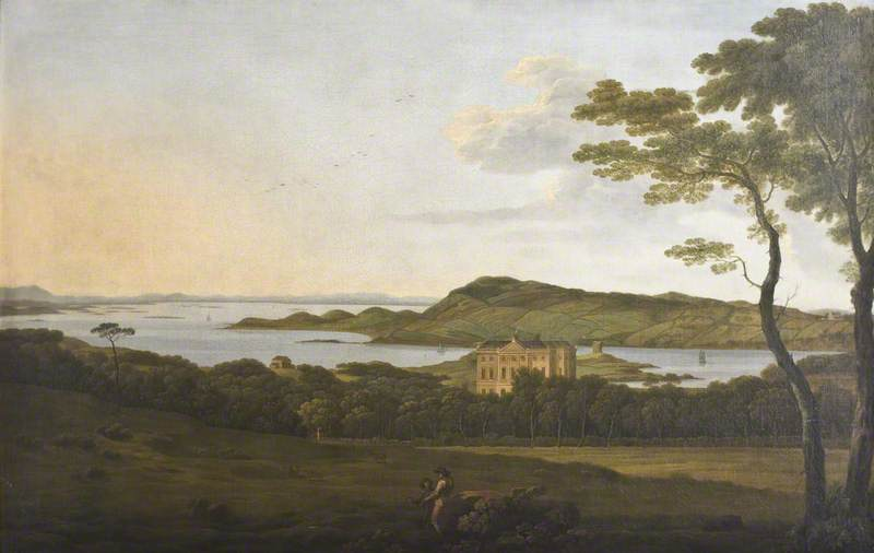 Castle Ward from a Mountain Wood, 1790 by Jonathan Fisher | Museum Art Reproductions | ArtsDot.com