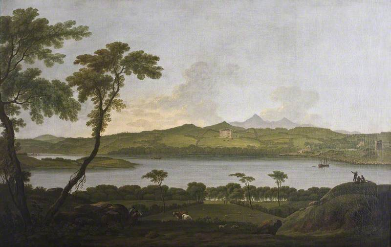 Castle Ward from Portaferry, 1790 by Jonathan Fisher | Art Reproduction | ArtsDot.com