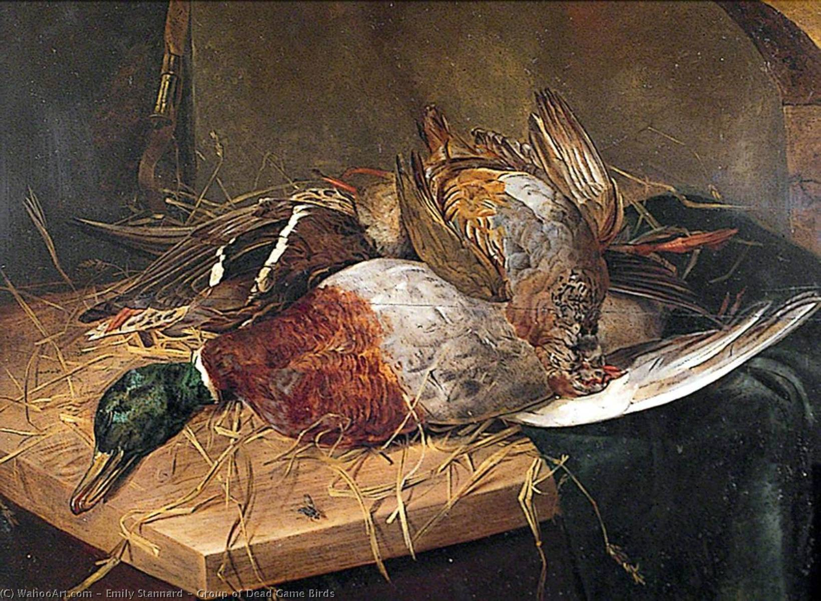 Group of Dead Game Birds, 1844 by Emily Stannard | Reproductions Emily Stannard | ArtsDot.com