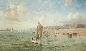 Thomas Huson - View of North Pier, Blackpool, from the South West