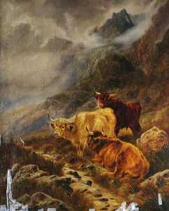 William Perring Hollyer - Highland Cattle