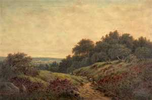 William Perring Hollyer - A Surrey Lane