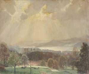 William Lionel Waddington - Sunlight on the Lake