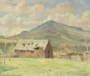 William Lionel Waddington - Harter Fell and Old Barn