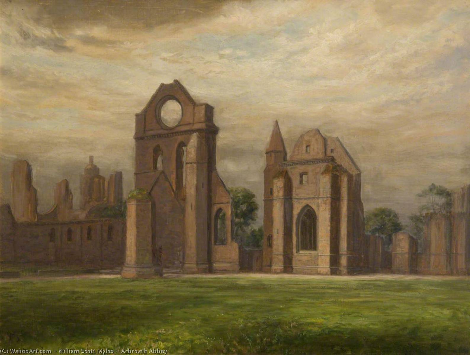 Order Paintings Reproductions | Arbroath Abbey, 1883 by William Scott Myles | ArtsDot.com