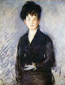 Edouard Manet - Isabelle Lemonier, Woman with golden hairpin
