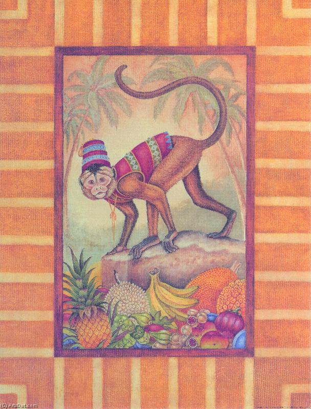 Grp873 (5) - Animals - Framed Art - Monkey (AC99KV) | Textured Print Animals | ArtsDot.com