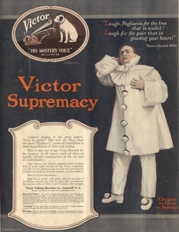 Music victor supremacy - Ads - Vintage - Music (AC4QN8) | Poster On Canvas Vintage Ads | ArtsDot.com